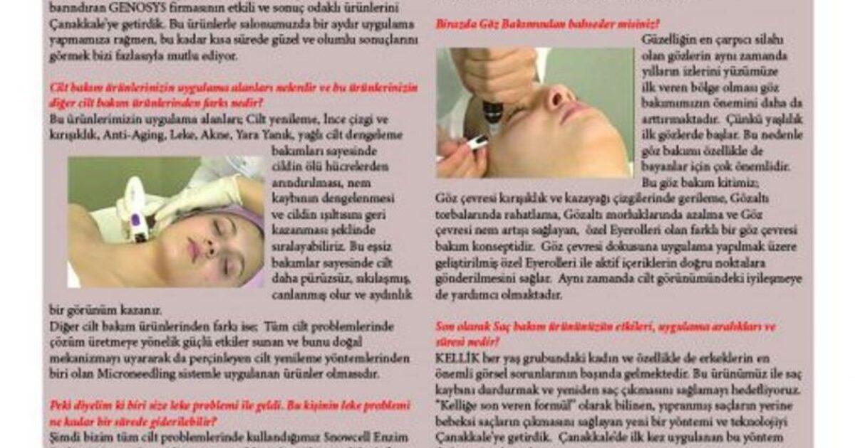 Çanakkale Aktuel Dergisi Ocak 2013 Röportajı