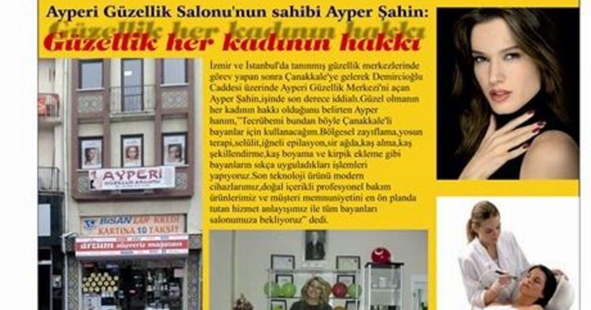 Çanakkale Kalem Gazetesinin Ocak 2011 tarihli haberi