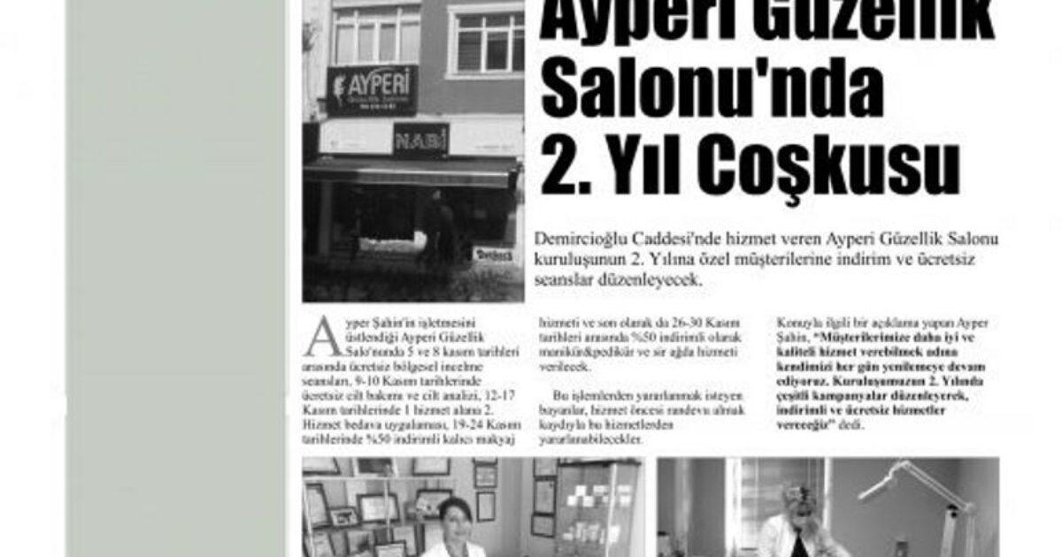 Kalem Gazetesinin 02.11.2012 tarihli haberi